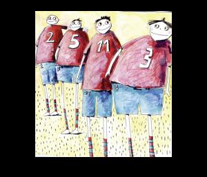 Vier Sportler
